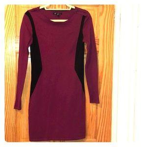 Magenta & Black Kenneth Cole sweater dress